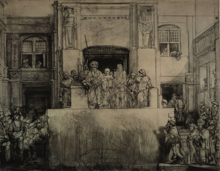 Rembrandt, Christ presented to the People (Ecce Homo), 1655. The British Museum, London © The Trustees of The British Museum