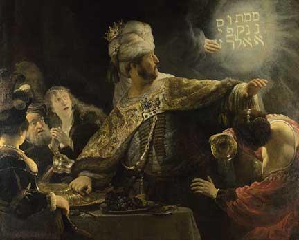 Rembrandt, 'Belshazzar's Feast', about 1635