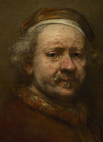 Detail from Rembrandt, 'Self Portrait at the Age of 63', about 1669