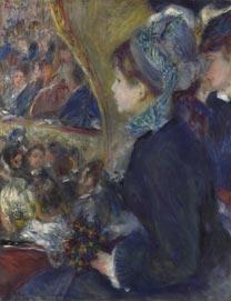 Renoir, 'At the Theatre (La Première Sortie)', 1876-7