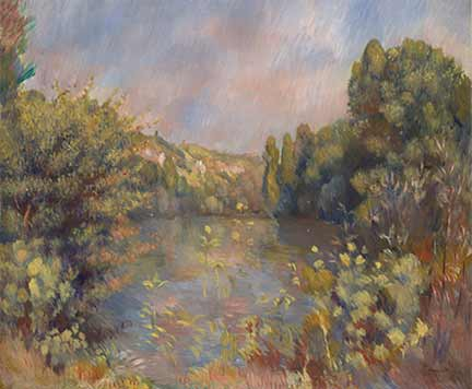 Renoir, 'Lakeside Landscape', about 1889