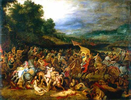 Rubens with Jan Brueghel, 'The Battle of the Amazons', about 1598