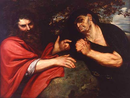Rubens, 'Democritus and Heraclitus', 1603