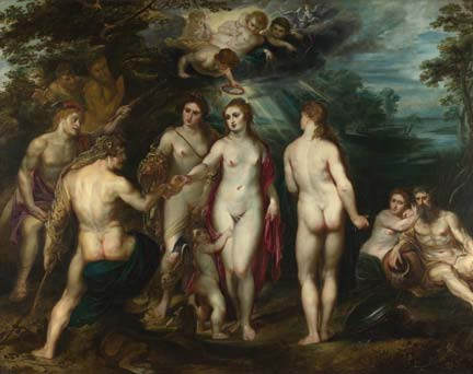 Rubens, 'The Judgement of Paris', about 1597-9