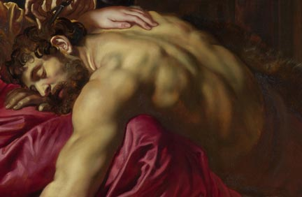 Detail from Rubens, 'Samson and Delilah' about 1609-10