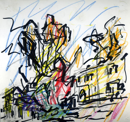 Frank Auerbach, 'Study for Park Village East', 2006 © Frank Auerbach, courtesy Marlborough Fine Art