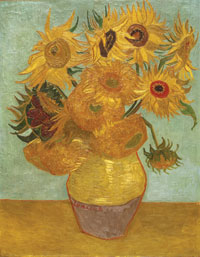 Vincent van Gogh, Sunflowers, January 1889, oil on canvas. Philadelphia Museum of Art, The Mr and Mrs Carroll S. Tyson, Jr, Collection, 1963 © Photo The Philadelphia Museum of Art/Art Resource/Scala, Florence