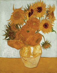 Vincent van Gogh, Sunflowers, August 1888, oil on canvas. Neue Pinakothek, Munich © akg-images
