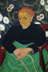 Vincent van Gogh, Madame Roulin Rocking the Cradle (La Berceuse), 1889, oil on canvas.  The Art Institute of Chicago, Helen Birch Bartlett Memorial Collection, 1926.200  © akg-images