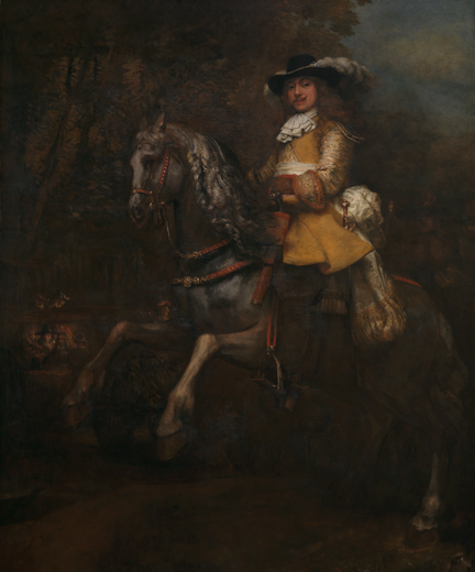 Rembrandt, 'Portrait of Frederick Rihel on Horseback', probably 1663