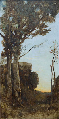 Jean-Baptiste-Camille Corot, The Four Times of the Day: Morning, about 1858. Bought with the assistance of the Art Fund, 2014 © National Gallery, London