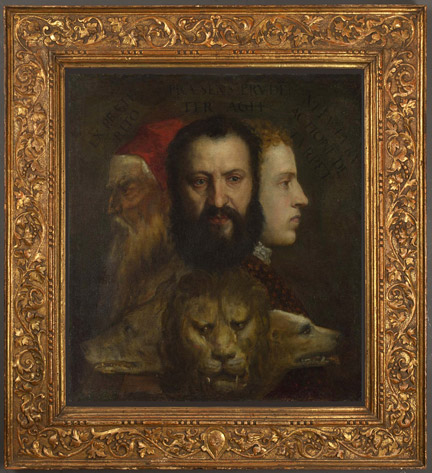 Titian and workshop, An Allegory of Prudence, about 1550-65