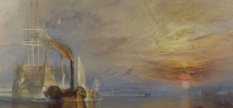 Joseph Mallord William Turner, 'The Fighting Temeraire tugged to her last berth to be broken up', 1838