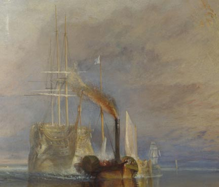 Detail from Turner, 'The Fighting Temeraire', 1839