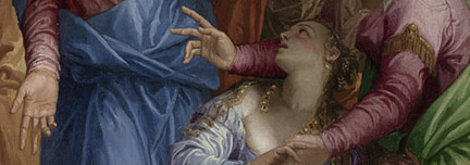 Detail from Paolo Veronese, 'The Conversion of Mary Magdalene', about 1548 © The National Gallery, London
