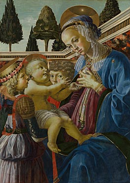 Andrea del Verrocchio, The Virgin and Child with Two Angels