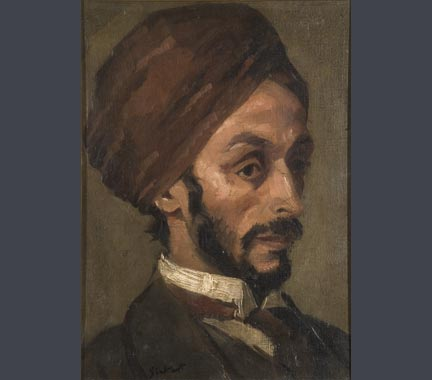 Walter Sickert, 'Portrait of an Afgan Gentleman', c. 1895. Jerwood Foundation Art Collection