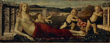 Workshop of Sandro Botticelli, 'Venus and Three Putti', late 15th century. Musée du Louvre, Paris