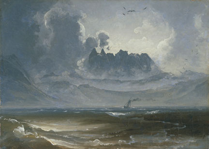Peder Balke, The Mountain Range 'Trolltindene', about 1845