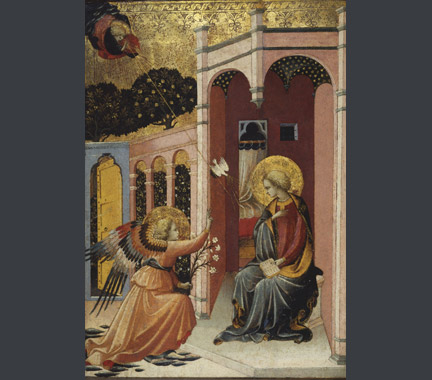 Master of the Judgement of Paris: 'The Annunciation'.