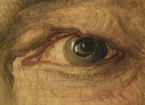Detail, of left eye, from Attributed to Albrecht Dürer, 'The Painter's Father', 1497
