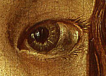 Detail, of left eye, from Albrecht Dürer, 'Self Portrait', 1498
