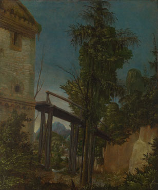 Albrecht Altdorfer: 'Landscape with a Footbridge'