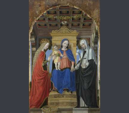 Ambrogio Bergognone, 'The Virgin and Child with Saints', about 1490