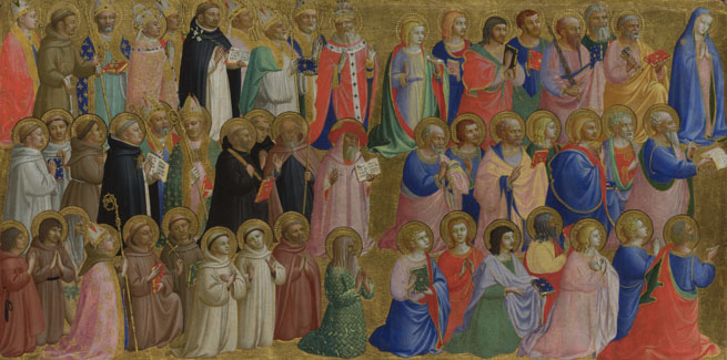 Fra Angelico: 'The Virgin Mary with the Apostles and Other Saints'