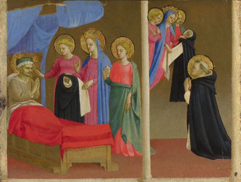 Workshop of Fra Angelico: 'The Vision of the Dominican Habit'