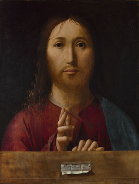 Antonello da Messina: 'Christ Blessing'