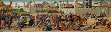 Biagio di Antonio: 'The Siege of Troy, The Death of Hector'.