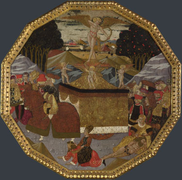 Workshop of Apollonio di Giovanni: 'Birth Tray: The Triumph of Love'