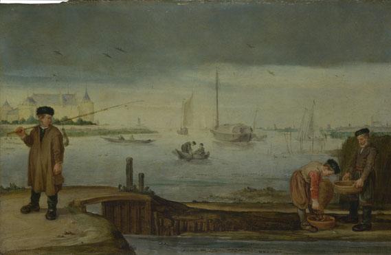 Arent Arentsz.: 'Fishermen near Muiden Castle'