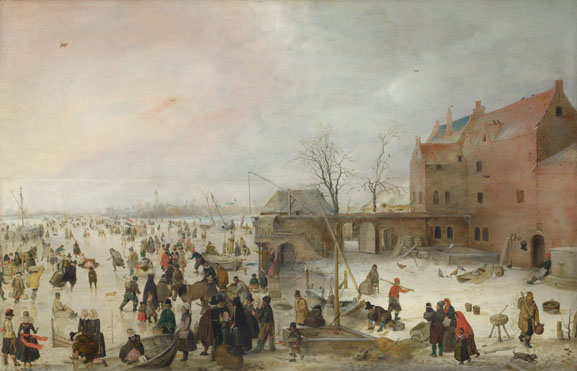 Hendrick Avercamp: 'A Scene on the Ice near a Town'