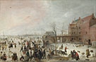 A Scene on the Ice near a Town