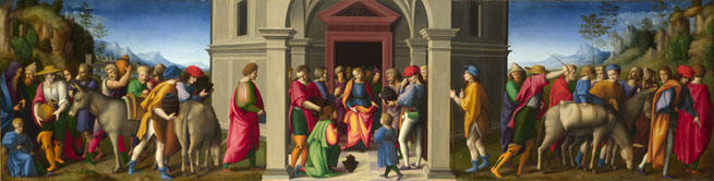 Bacchiacca: 'Joseph receives his Brothers'