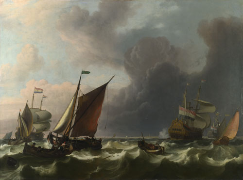 Ludolf Bakhuizen: 'Dutch Men-of-war off Enkhuizen'
