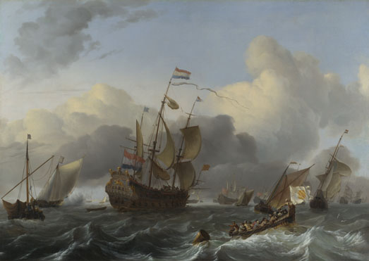 Ludolf Bakhuizen: 'The Eendracht and a Fleet of Dutch Men-of-war'