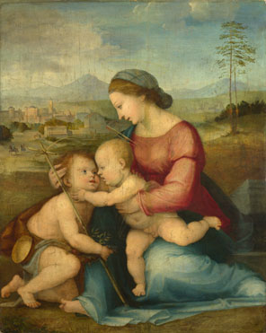 Attributed to Fra Bartolommeo: 'The Madonna and Child with Saint John'