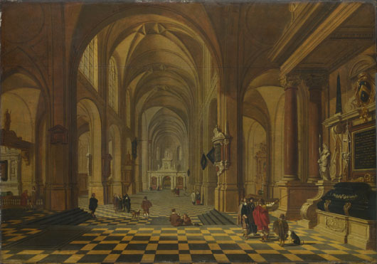 Attributed to Bartholomeus van Bassen: 'Interior of a Church'