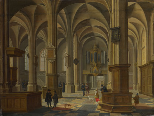 Bartholomeus van Bassen: 'Interior of St Cunerakerk, Rhenen'