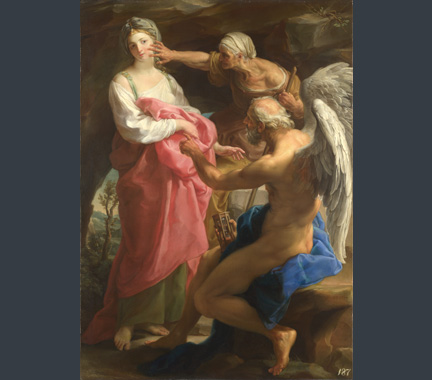 Batoni, 'Time orders Old Age to destroy Beauty', 1746