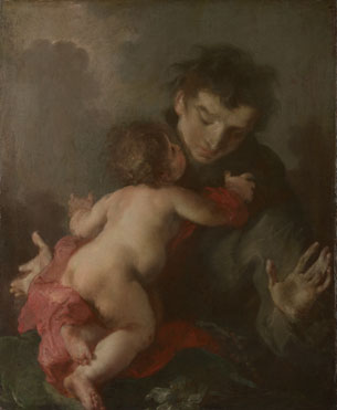 Giuseppe Bazzani: 'Saint Anthony of Padua with the Infant Christ'