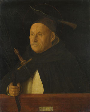 Workshop of Giovanni Bellini: 'A Dominican, with the Attributes of Saint Peter Martyr'