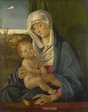 Workshop of Giovanni Bellini: 'The Virgin and Child'