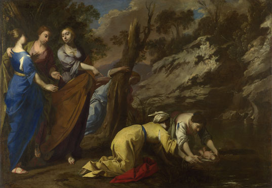 Attributed to Antonio De Bellis: 'The Finding of Moses'
