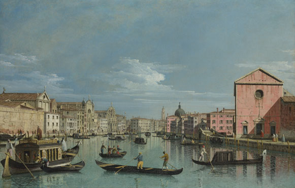 Bernardo Bellotto: 'Venice: The Grand Canal facing Santa Croce'