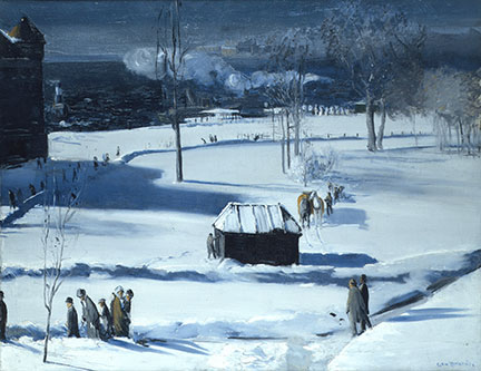 George Bellows, 'Blue Snow, The Battery'