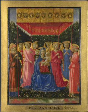 Attributed to Benozzo Gozzoli: 'The Virgin and Child with Angels'